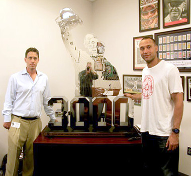 Derek Jeter with Scott Kranzler